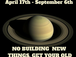 SATURN RETROGRADE: A Time to Rebuild and Reinforce