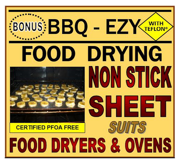 BBQ-EZY Food Drying Dehydrator Non Stick Sheets