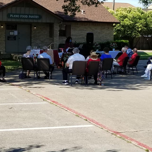 Worshipping outside- COVID Times