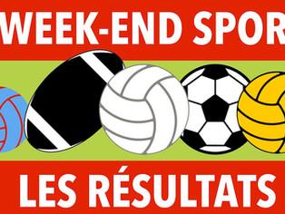 Résultats du week-end sportif 11 et 12 janvier