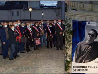 Minute de silence en mémoire de Samuel Paty à Montargis