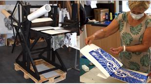 À l'école d'art d'Amilly, un atelier de gravure... avec la presse de Georges Thouvenot !
