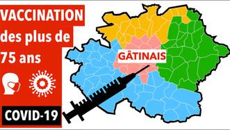 Vaccination dans le Gâtinais : 630 personnes par semaine jusqu'à la mi-février, 1260 ensuite...