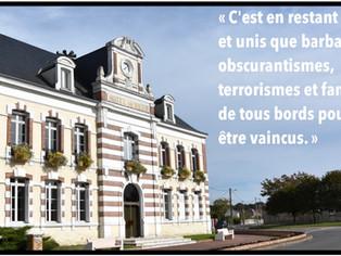 Communiqué du conseil municipal de Chalette-sur-loing après le meurtre de Samuel Paty