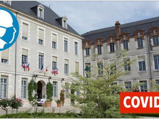 Communiqué de la mairie de Montargis / 13 patients en réanimation (- 3 par rapport à vendredi )
