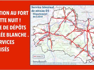 Routes départementales :  retour à la quasi normale, les routes encore traitées cette nuit
