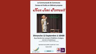 """Châtillon-Coligny - Dimanche 12 septembre, un conte pour petits et grands : """"Mon ami Perrault"""""""