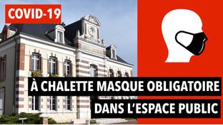 Covid-19 à Châlette : masque obligatoire pour tous dans l'espace public et campagne de dépistage