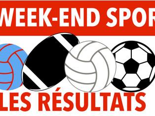 Résultats du week-end sportif (7 et 8 décembre)