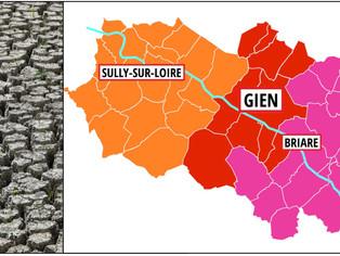 Les 18 communes du Giennois reconnues en état de catastrophe naturelle suite à la sécheresse de 2019