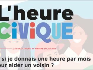 """Le Loiret lance """"l'Heure Civique"""", pour faciliter la solidarité de proximité"""