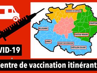 Le département lance la vaccination itinérante à partir du 16 février / Dans 7 communes du Gâtinais