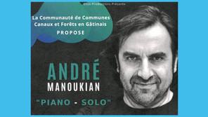 Nogent-sur-Vernisson - Le 5 novembre, Concert d'André Manoukian pour des retrouvailles arméniennes
