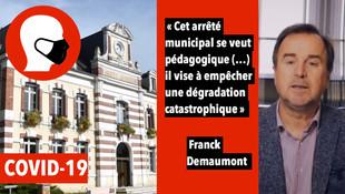 Châlette : le maire Franck Demaumont fait de la pédagogie sur le masque obligatoire dans sa commune