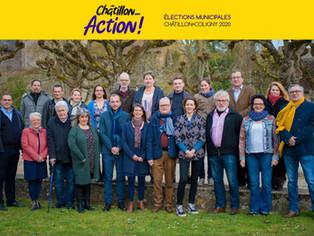 """La liste """"CHATILLON... ACTION !"""" conduite par Florent De Wilde remporte les élections (56,"""