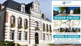 Chalette-sur-Loing - Mercredi 15 septembre, réunion publique quartier de Vésines