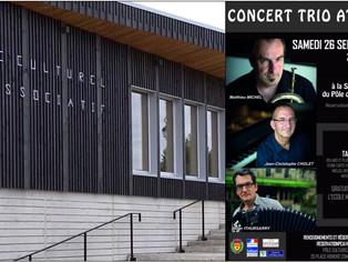 """Le 26 septembre à Courtenay, Concert « Whispers », """"trio atlantic"""""""