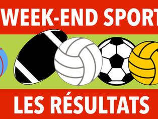 Résultats du week-end sportif des 3 et 4 octobre