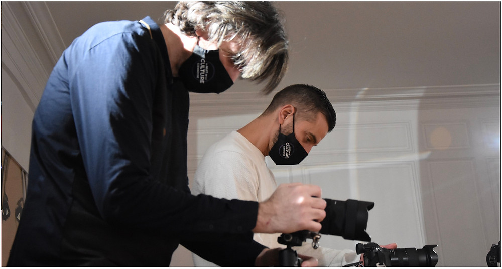 """Samuel Dejours et Nathanael Charpentier sur le tournage de """"la nuit de la culture giennoise"""""""