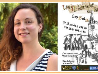 Des spectacles renouvelés pour les médiévales, la metteuse en scène Alicia Galli parie sur l'int