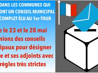 Entre le 23 et le 28 mai réunions des conseils municipaux pour désigner le maire et ses adjoints ave