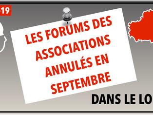 Toutes les fêtes ou forums des associations prévues en septembre dans le Loiret sont annulés !