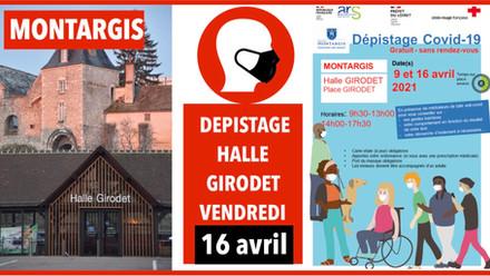 Dépistage gratuit ouvert à tous à Montargis vendredi 16 avril