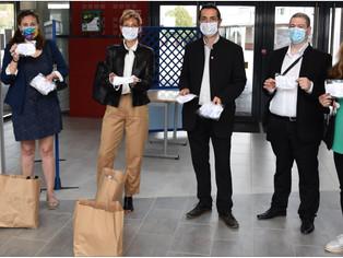 La 3CBO distribue des masques aux élèves et au personnel des collèges de Château-Renard et Courtenay