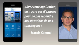 """Avec l'application """"Gien, ma ville"""", Francis Cammal """"veut faire et faire savoir"""""""