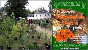 Les Journées de l'Arbre avec Hubert Reeves les 3 et 4 octobre à l'Arboretum des Barres