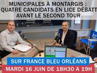 Les candidats en lice à Montargis débattent ce mardi à partir de 18h30 sur France Bleue Orléans