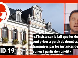 """Franck Demaumont attend des données """"objectives et vraies concernant la crise sanitaire"""" à Châlette"""
