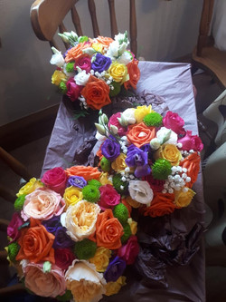 beautiful bright flowers