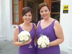 Pamela and Julie in purple