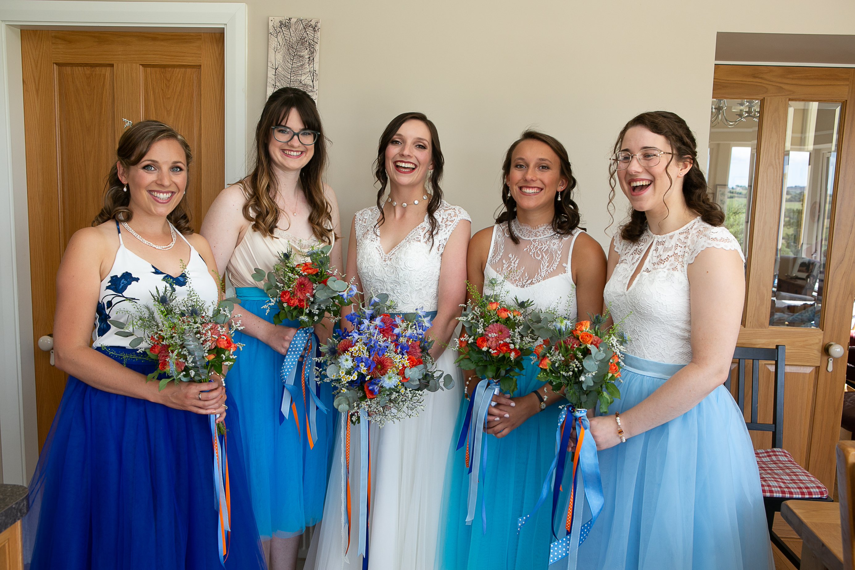 Beautiful Bridal party in blue
