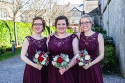 Bridemaids in Burgundy
