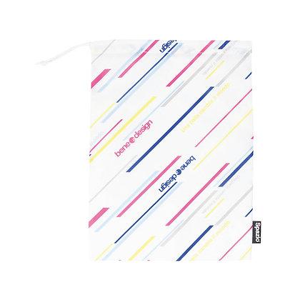 Diagonal Stripe Shoes bag