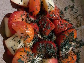 Salade de fraises & spiruline