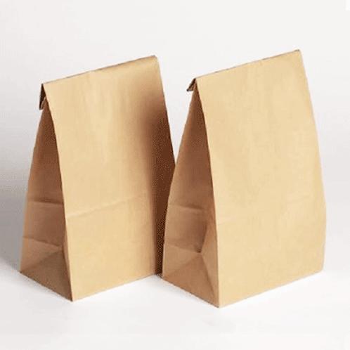 Sacos papel c/ fundo plano (14x24cm)
