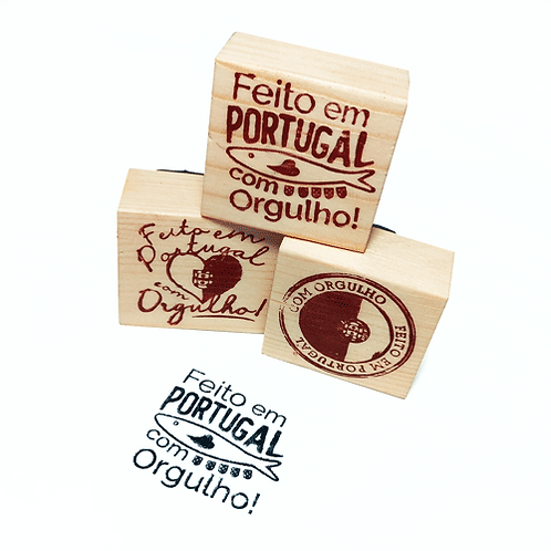 """Carimbo """"Feito em Portugal""""   35x35mm"""
