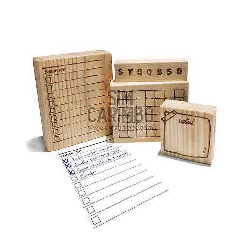 Carimbos Organização Cadernos
