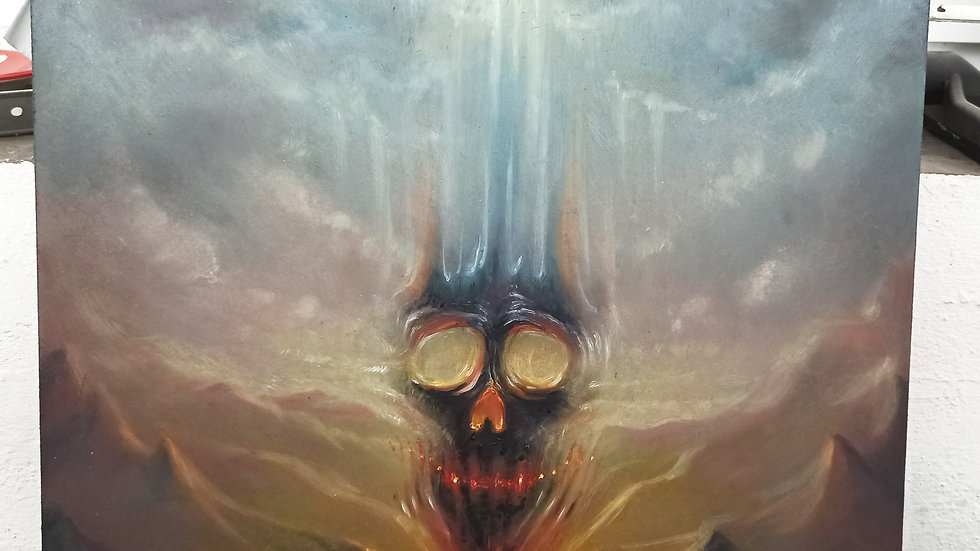 Pastell Skull - Original Painting