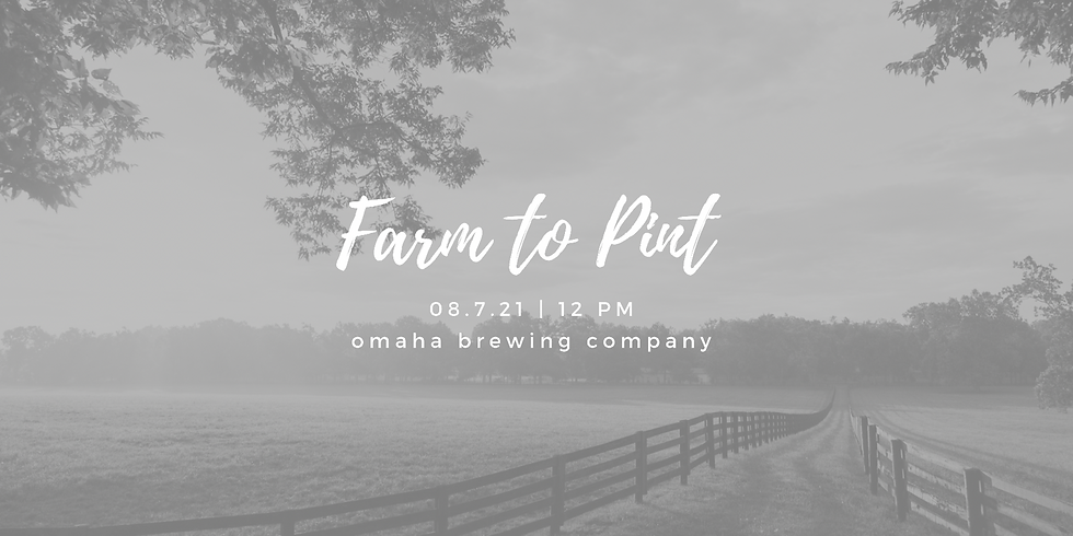 From Farm To Pint!