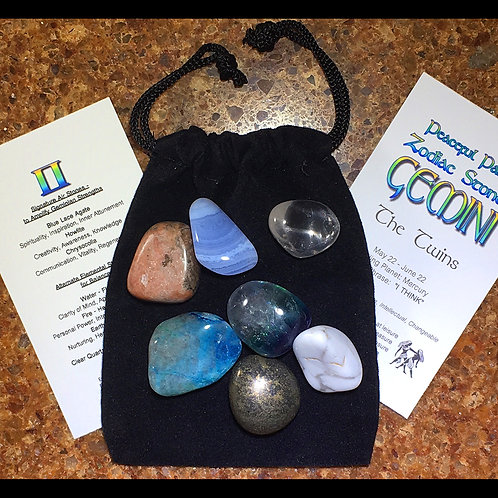 Gemini Zodiac Stone Set