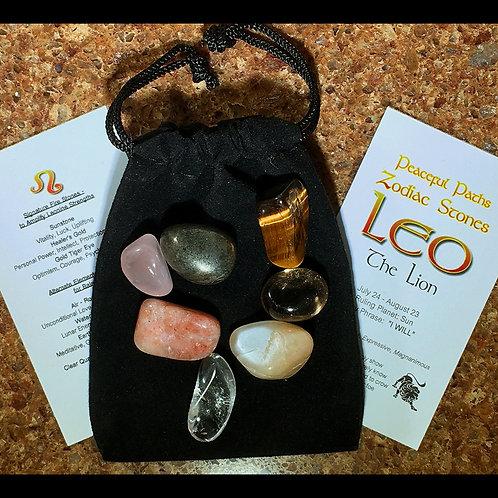 Leo Zodiac Stones Set