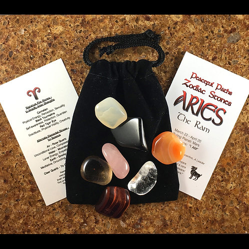 Aries Zodiac Stones Set