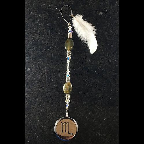 SCORPIO Labradorite Gemstone Zodiac Heart String Aromatherapy Diffuser