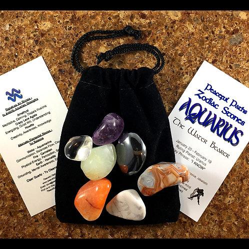 Aquarius Zodiac Stones Set