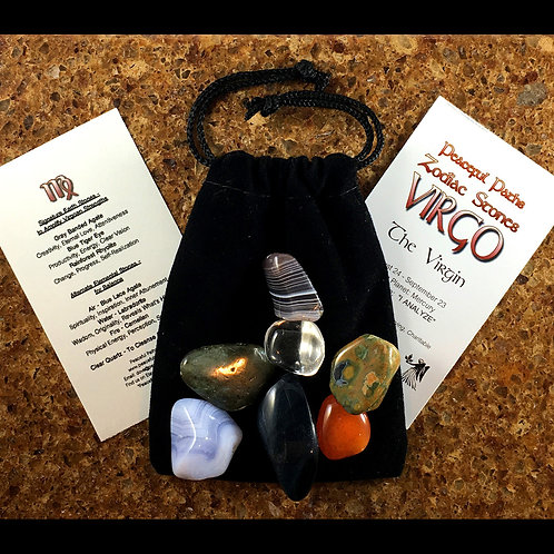 Virgo Zodiac Stones Set