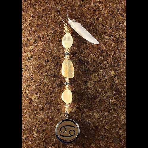 CANCER Moonstone Gemstone Zodiac Heart String Aromatherapy Diffuser